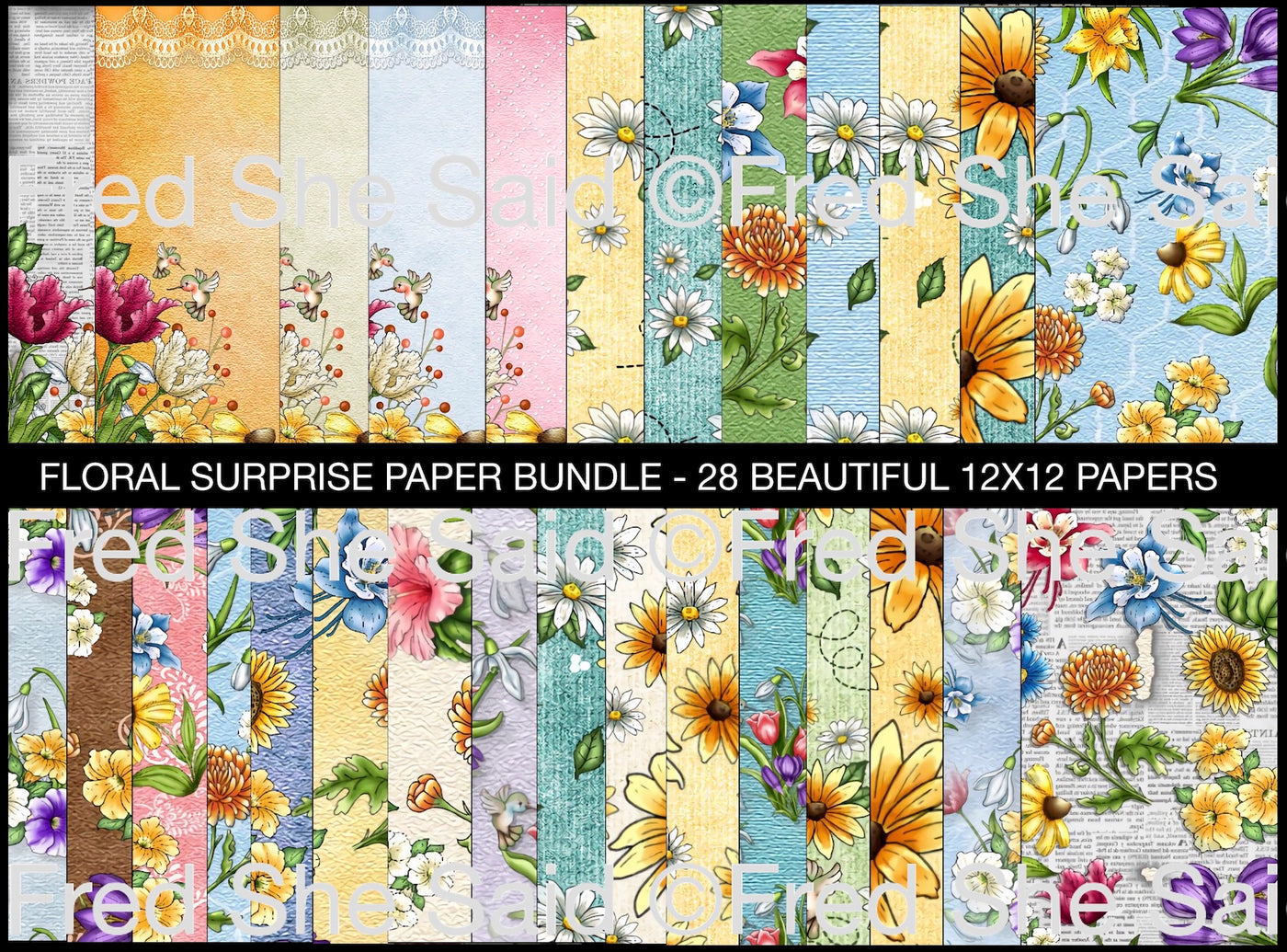Digital Papers Floral Surprise [DIGI4006FS]