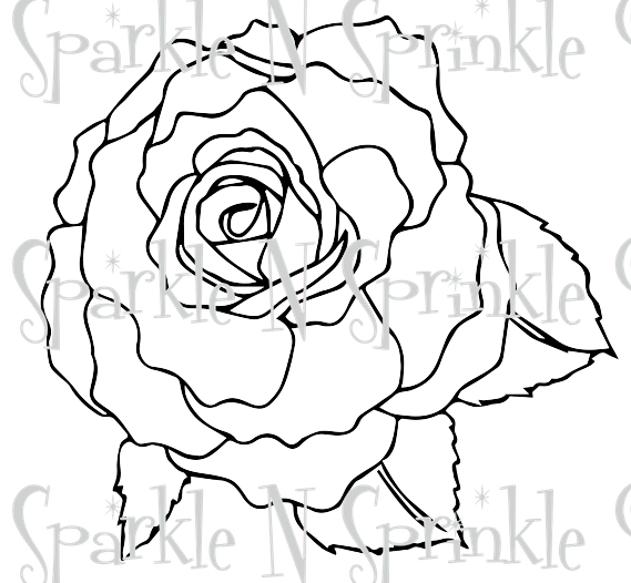 Rose BW Digital Stamp [Digi5000-402]