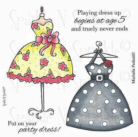 Dress Up Digital Stamp Set, Digi525M