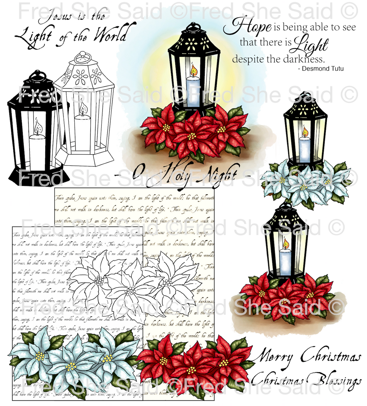 Festive Lantern Digital Stamp Set [Digi808FS]