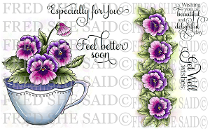 Pansies-Purple Digital Stamp Sets [Digi826833FS]
