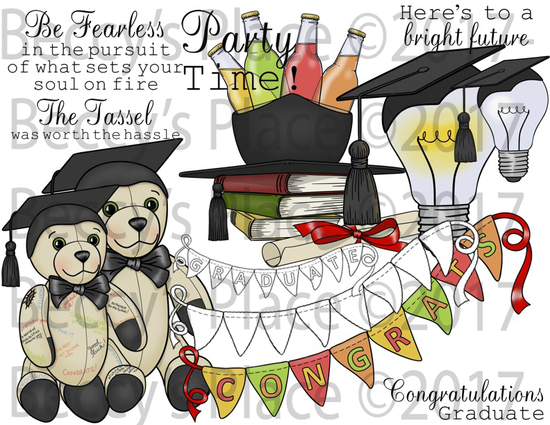 Graduation Bundle Digital Stamp Sets [Digi849-850b]
