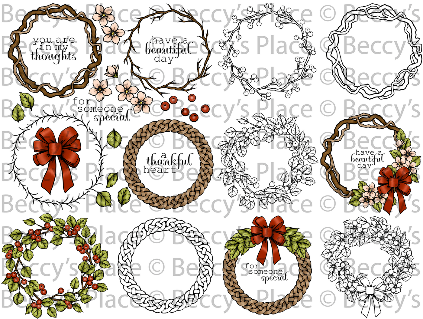Four Seasons Wreath Digi Set BUNDLE [DIGI867-3128B]