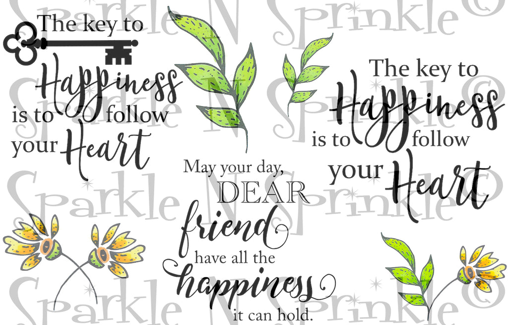 Happiness Greetings Digital Stamp Set [Digi886DE]