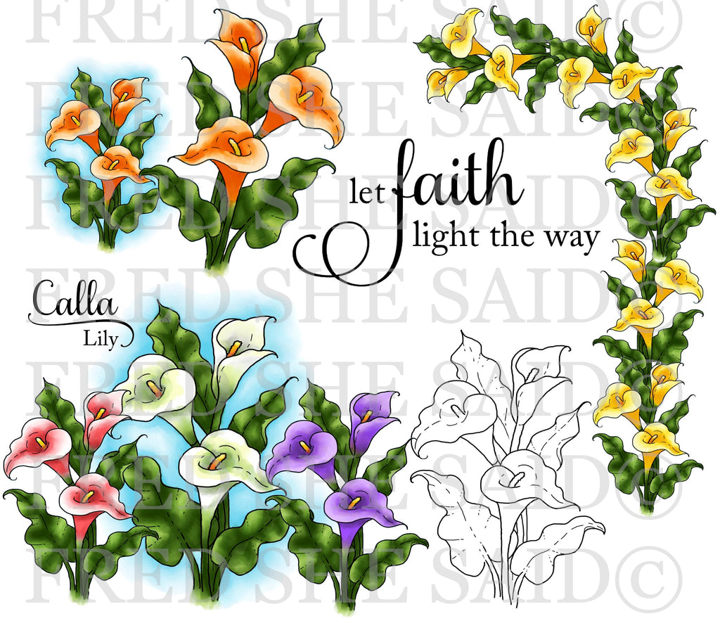 Calla Lilies Digital Stamp Set [DIGI888FS]