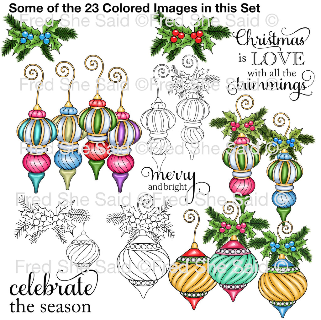 Christmas Baubles Digital Stamp Set, DIGI891FS