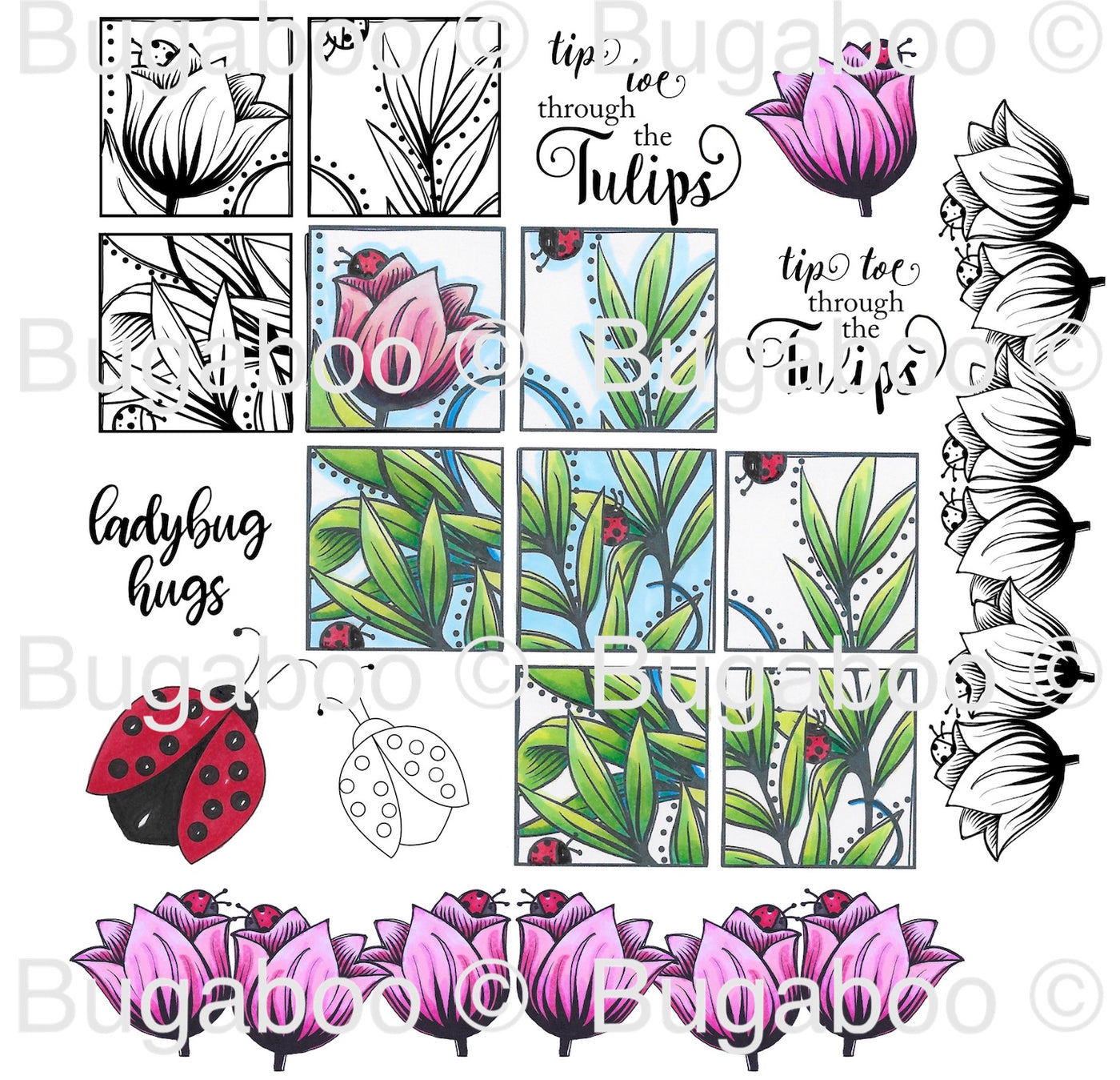 Tulip Square Digital Stamp Set [DIGI894BG]