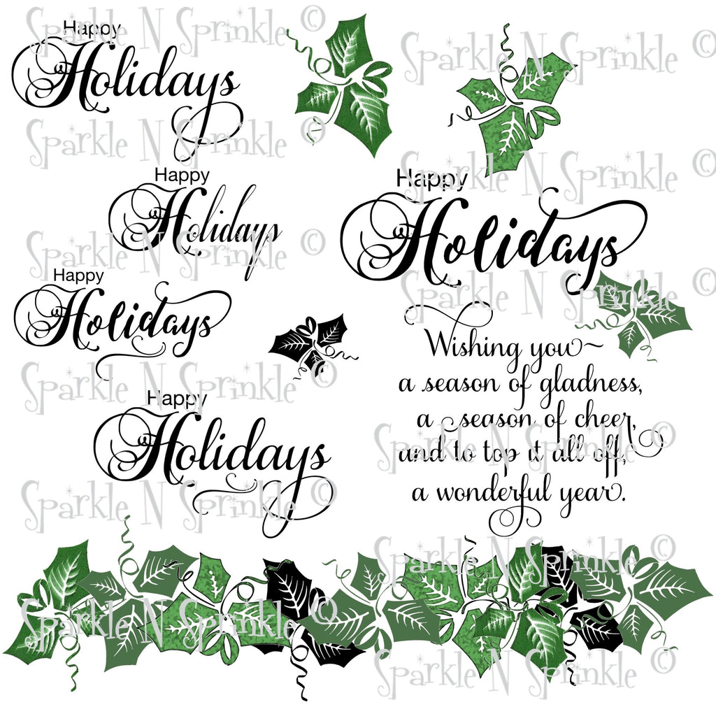 Happy Holidays Digital Stamp [Digi897DE]
