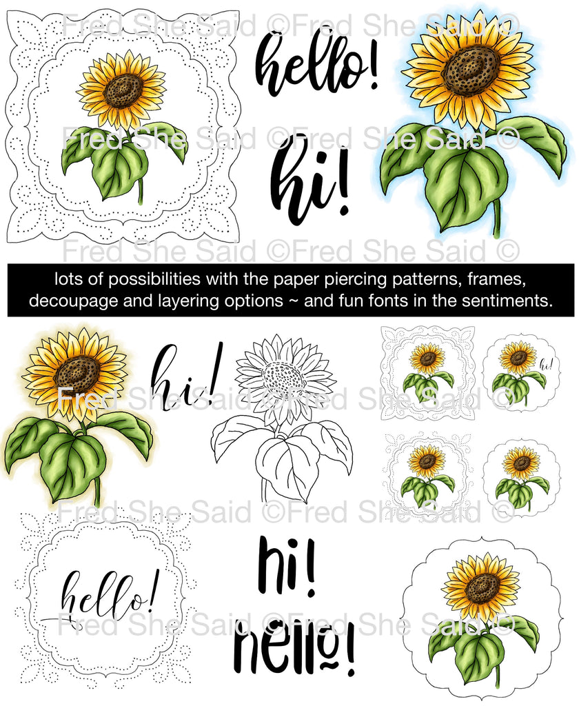 Sunflower Cheer Digital Stamp Set [DIGI916FS]