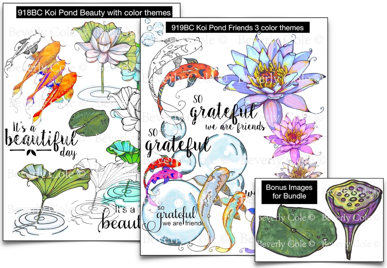 Koi Pond Super Bundle Digital Stamp Set [DIGI918-919BC]