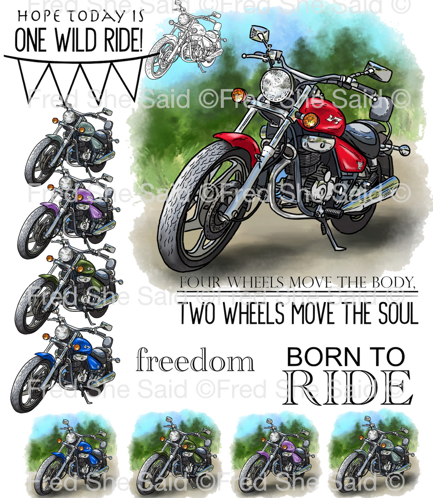 One Wild Ride Digital Stamp Set, DIGI927FS