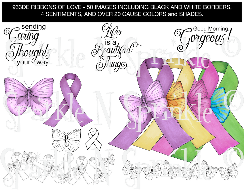 Ribbons of Love Digital Stamp Set, DIGI933DE