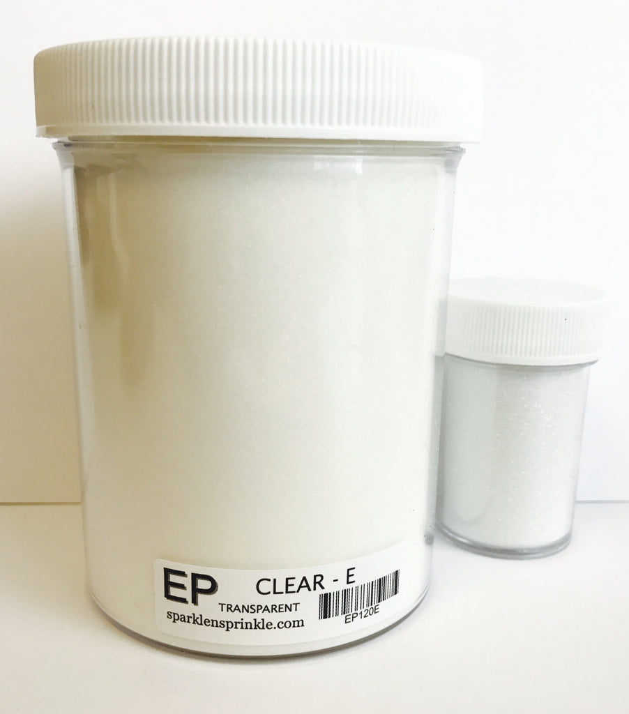 Embossing Powder Clear Economy Jar-6 oz,, EP120E