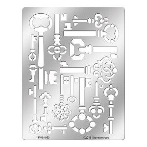 Stampendous Stencil Antique Keys [FMS4053]