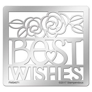 Best Wishes Ensemble Stampendous Stencil [FMS4071]