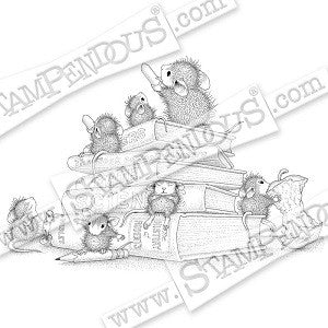 School Mice Stampendous Rubber Stamp [HMCR102]