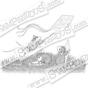 Kite Flight Stampendous Rubber Stamp [HMCR97]