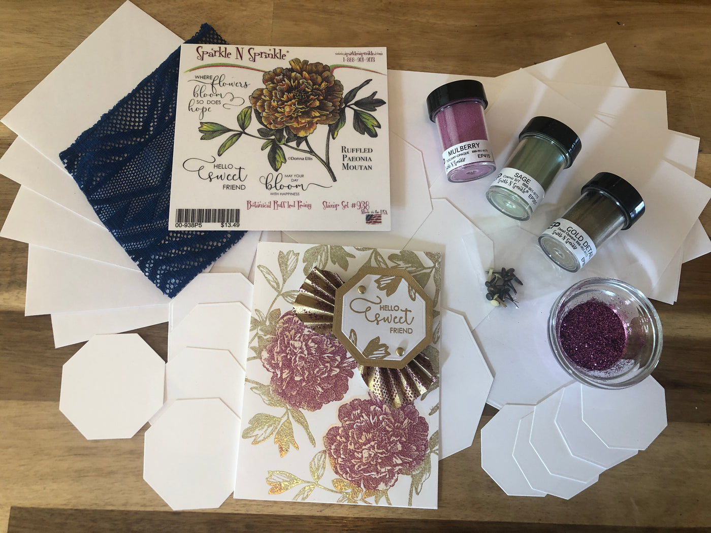 Botanical Ruffled Peony April Video Kit V04-19
