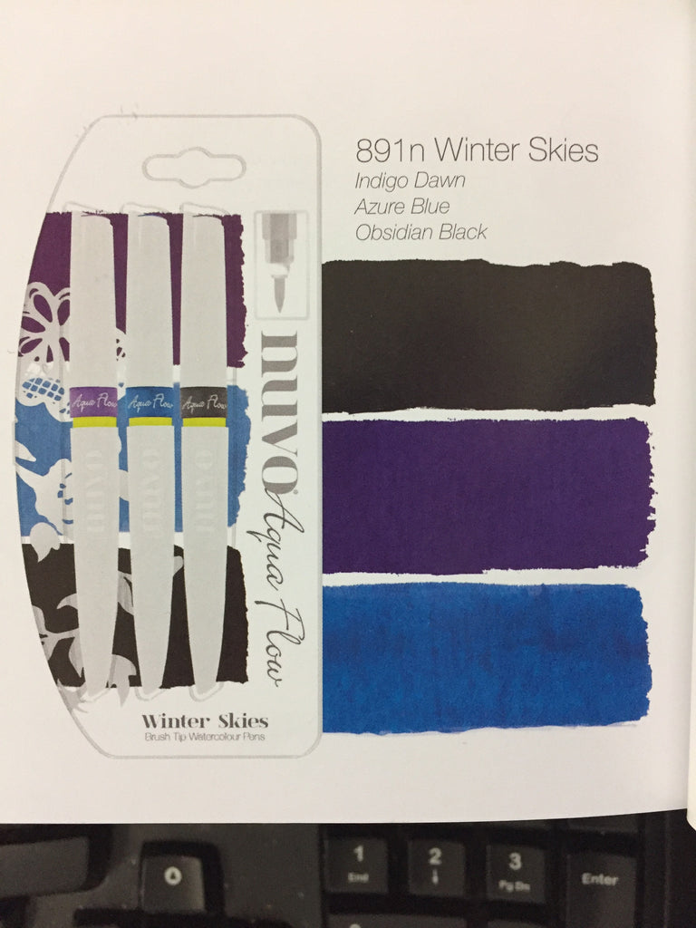 Nuvo Aqua Flow Watercolors - Winter Skies [891N]