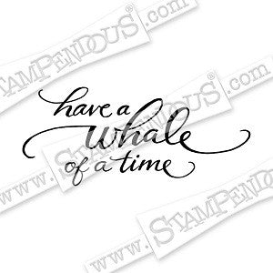 Whale of a Time Stampendous Rubber Stamp [CRL270]
