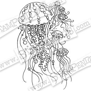 Jellyfish Stampendous Cling Stamp [CRP303]