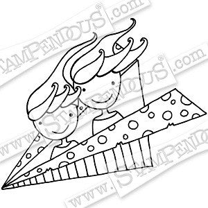 Whisper Fly High Stampendous Rubber Stamp [PLCV02]