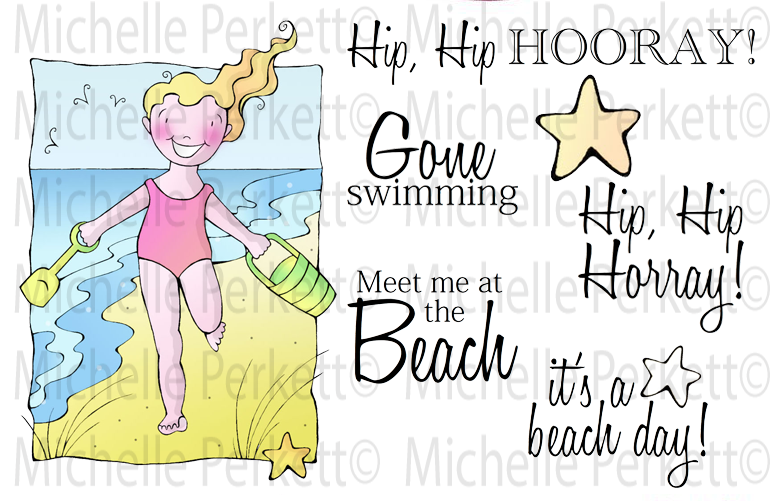 Beach Day Digi Stamp Set [Digi3132M]