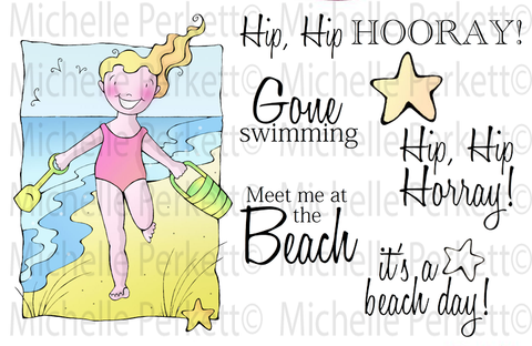 Digi Stamp Set Beach Day 3132M