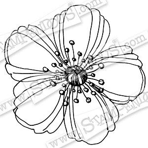 Fresh Bloom Stampendous Rubber Stamp (CRQ130]