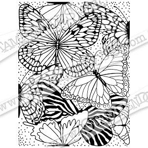Butterfly Wings Stampendous Rubber Stamp [CRR282]