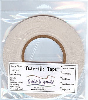 "1/4"" x 55 yds. Double Sided ""Tear-ific"" Tape, SAT01"