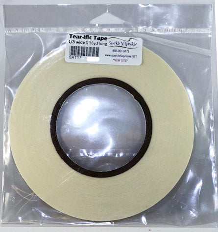 "1/8"" x 36 yds. Double Sided ""Tear-ific"" Tape, SAT17"