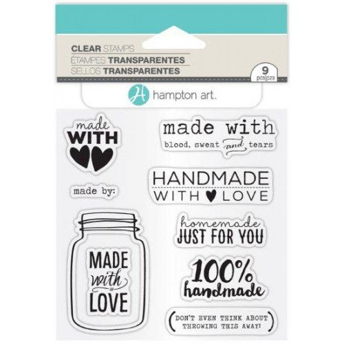 Made With Love Hampton Art Rubber Stamp Set [SC0763]