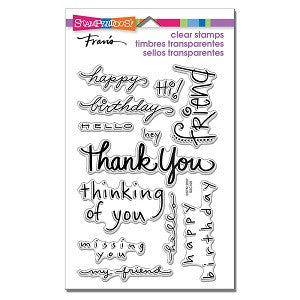 Happy Messages Stampendous Rubber Stamp Set [SSC109]