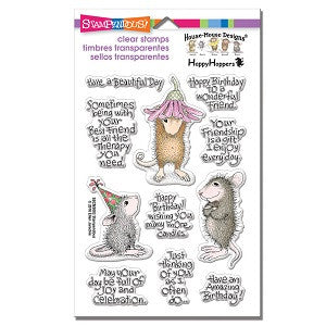 Friend Wishes Stampendous Rubber Stamp Set [SSCM5003]