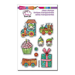 Stampendous Rubber Stamp Set Whisper Happy Wagon Pieces [SSCP108]