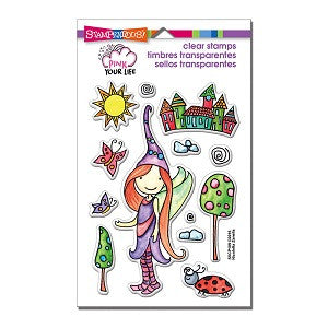 Whisper World Pieces Stampendous Rubber Stamp [SSCP109]