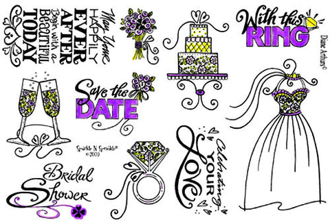 Today's Wedding - Stamp Set 379.615 [00-379P4]
