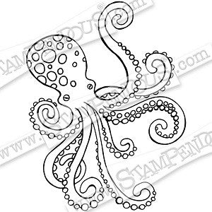 Octopus Stampendous Rubber Stamp CRV333