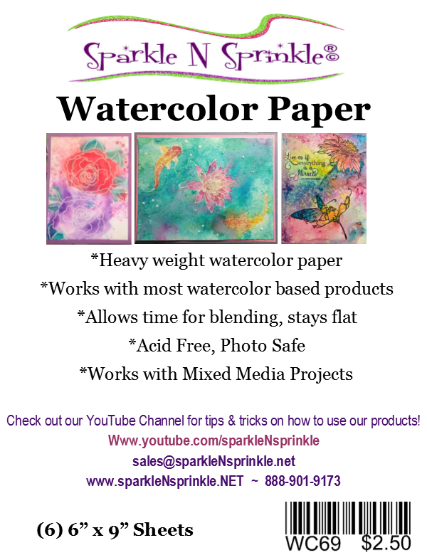 Watercolor Paper 6ct, WCPAP