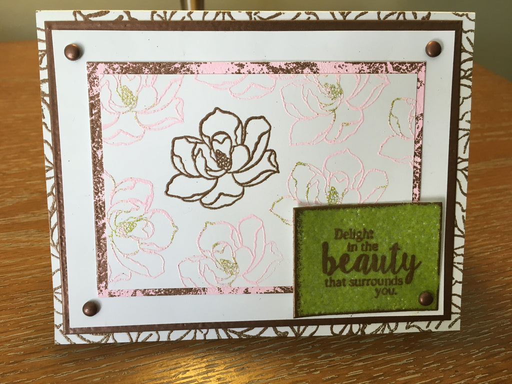 Lovely Magnolia Rubber Stamp Set [00-853P5]