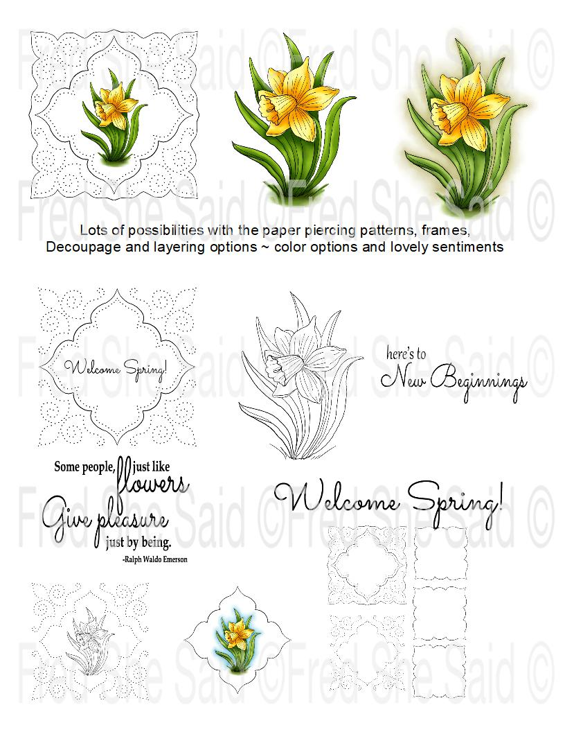 Welcome Spring Digital Stamp Set, Digi937FS