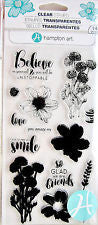 Layer Flower Believe Hampton Art Rubber Stamp Set [SC0746]