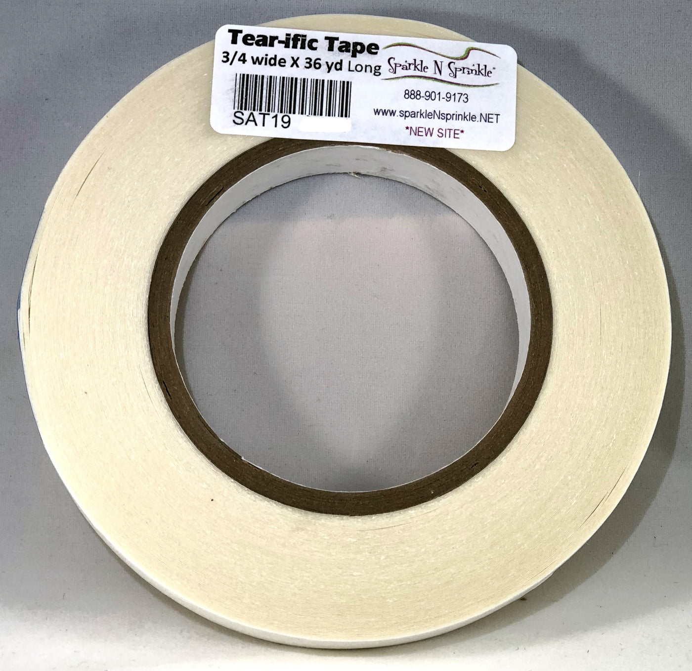 "3/4"" x 36 yds. Double Sided ""Tear-ific"" Tape, SAT19"