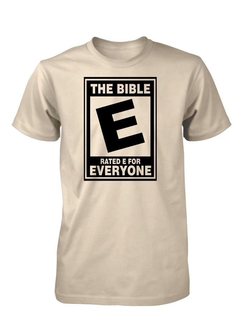 the bible rated e everyone christian tshirt for men � aprojes