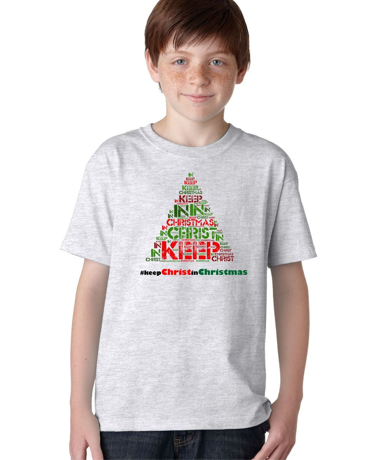 #Keep Christ in Christmas Hashtag Jesus Christian T-Shirt for Kids