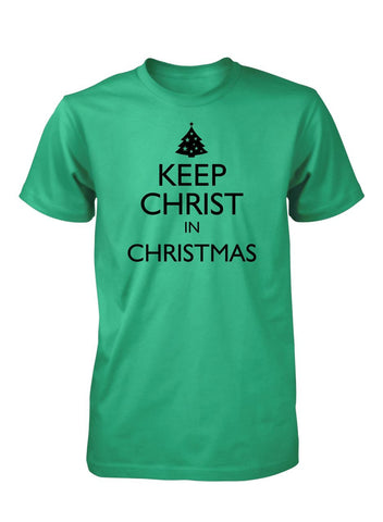 Keep Christ In Christmas Jesus Christian T-Shirt for Men