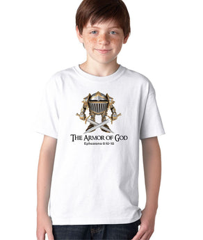 Armor of God Soldier Warrior Medieval Knight Fighter Christian T-shirt for Kids