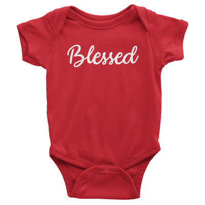 Blessed Baby Red Bodysuit | Christian Baby Gifts | Aprojes