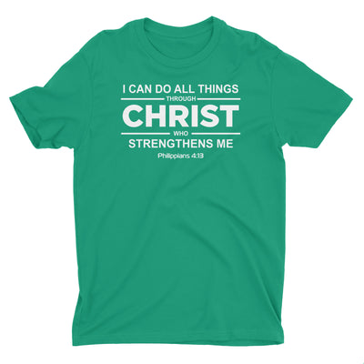 I Can Do All Things Shirt for Men - Philippians 4:13 Christian Tee